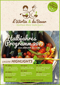 1.Halbjahresfolder 2019 vom Gasthaus Maier Gallenbach